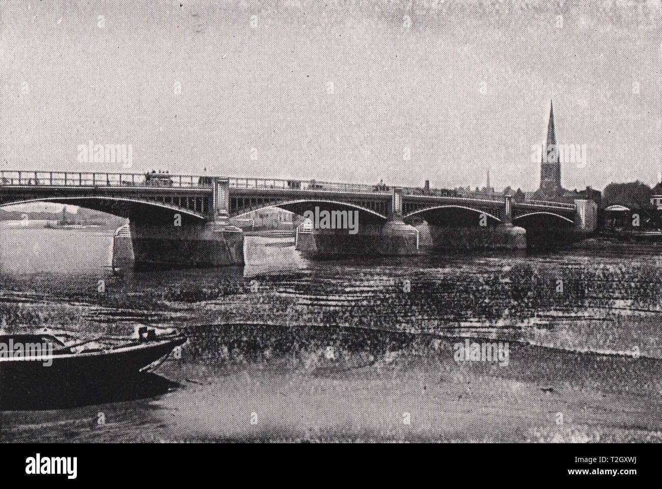 New Vauxhall Bridge (First of London Bridges carrying Trams across) - Stock Image