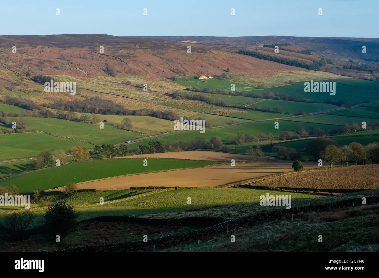 North Yorkshire Moors landscape close to the hamlet of Chop Gate