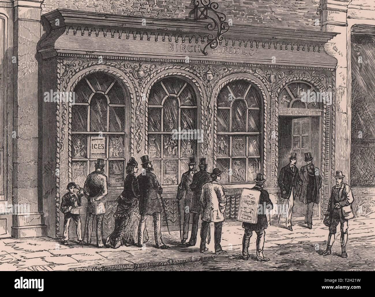 Confectioner's Shop, Cornhill - Stock Image