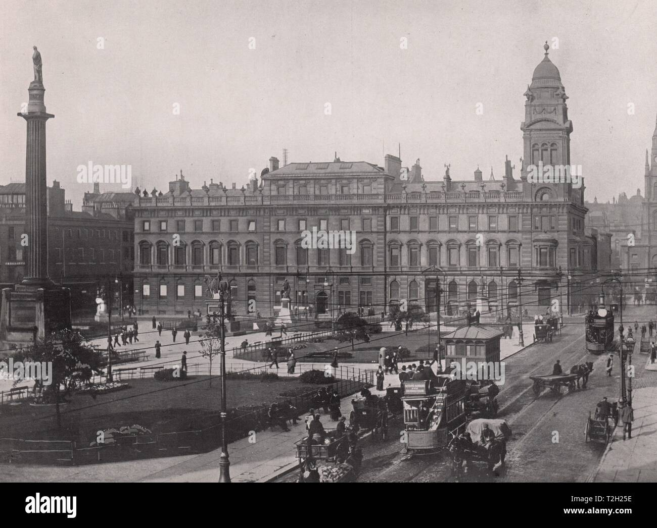 George Square and Merchants House - Stock Image
