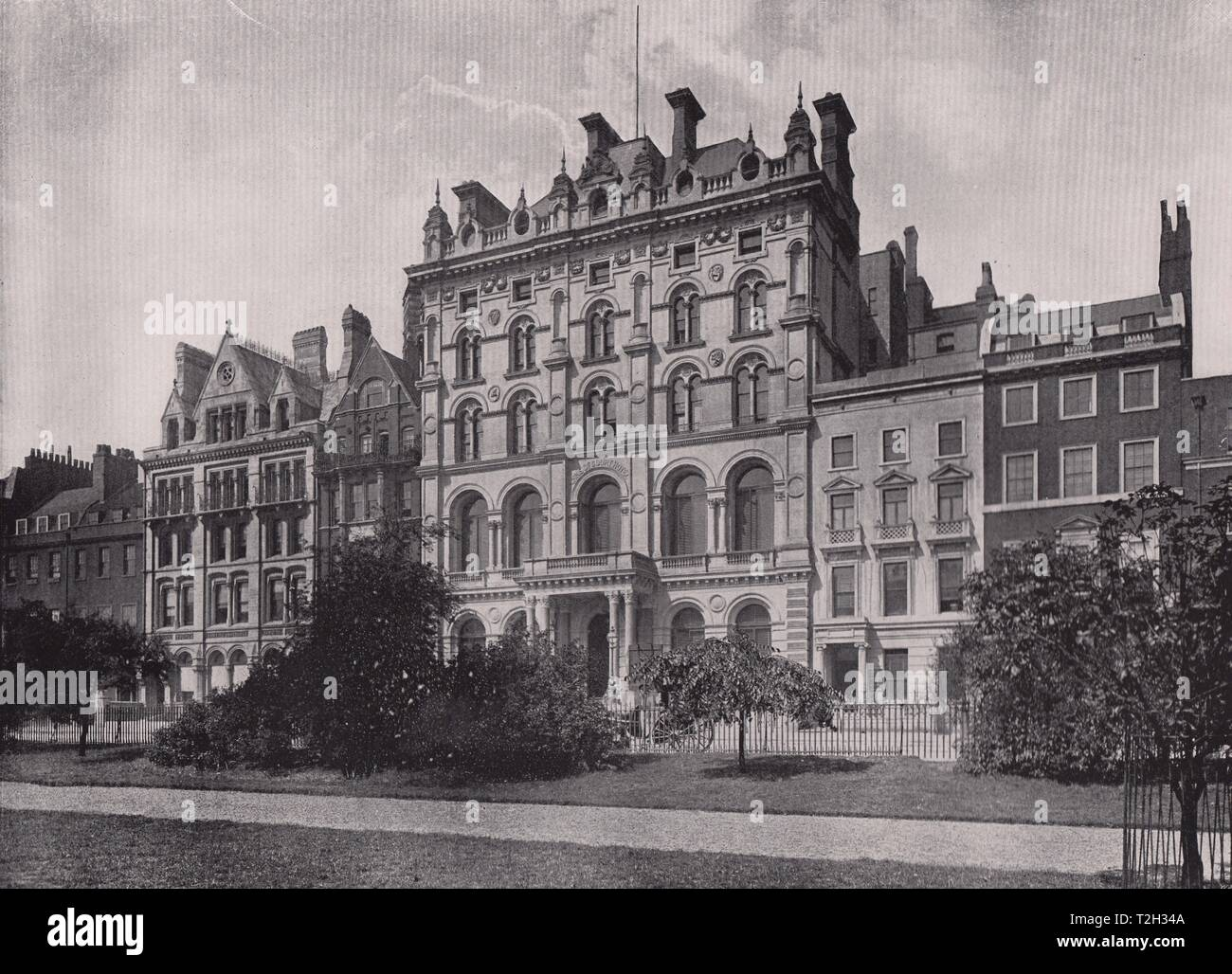 Lincoln's Inn Fields - Showing the Inns of court hotel - Stock Image