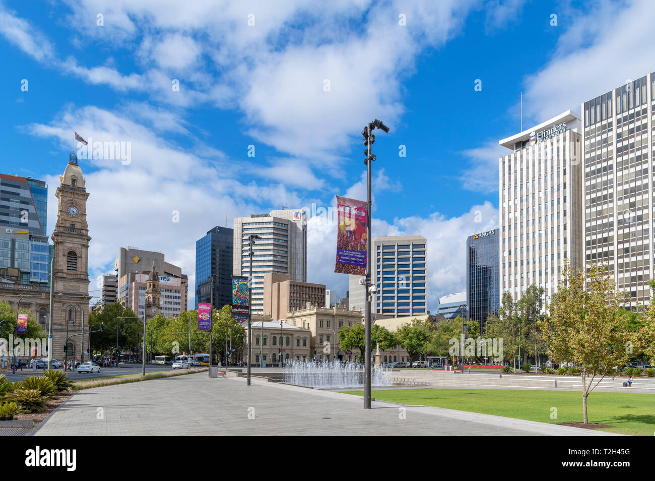 Adelaide, Australia. Victoria Square in the Central Business District (CBD), Adelaide, South Australia, Australia - Stock Image