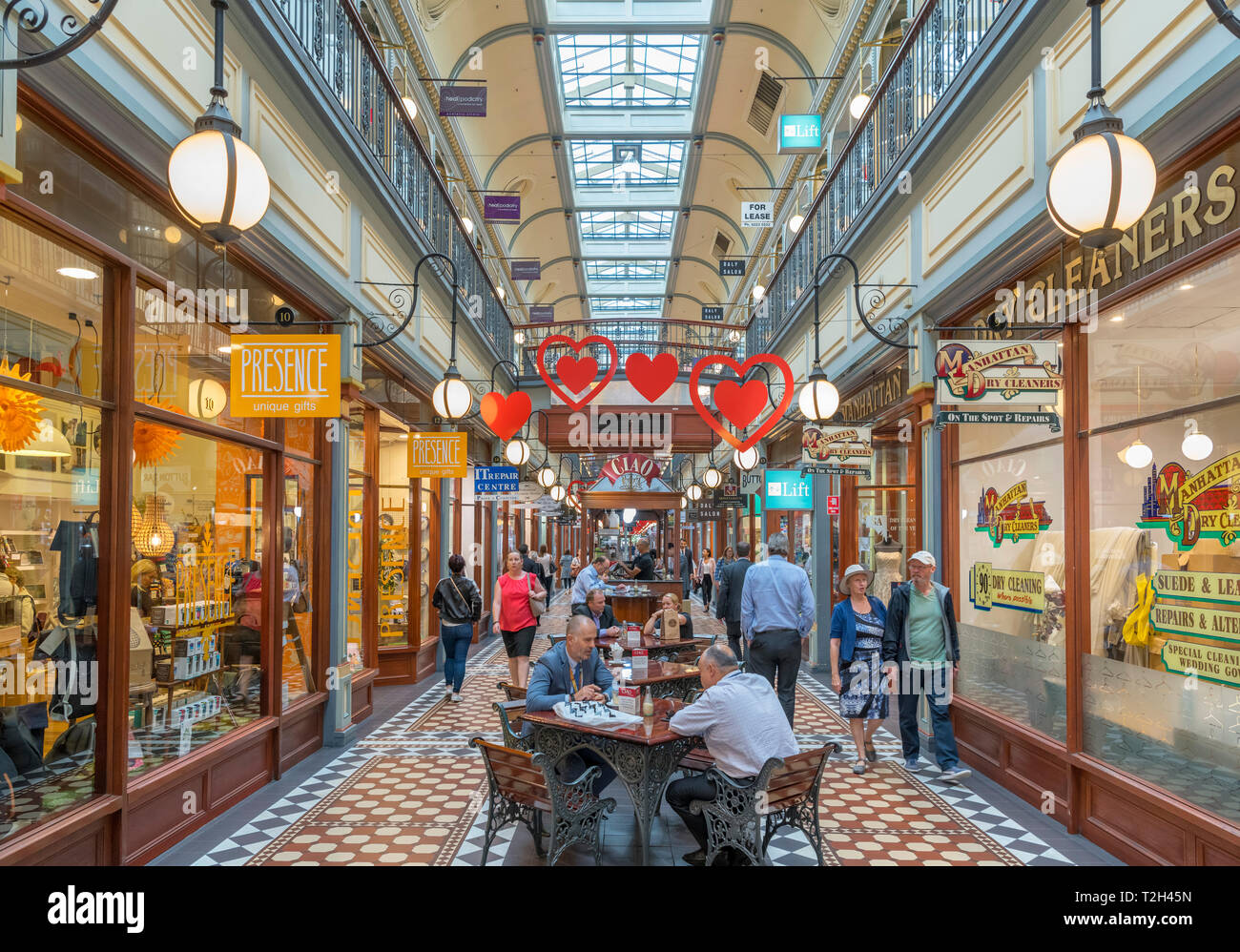 Adelaide, Australia. The Adelaide Arcade shopping centre in the Central Business District (CBD), Adelaide, South Australia, Australia - Stock Image