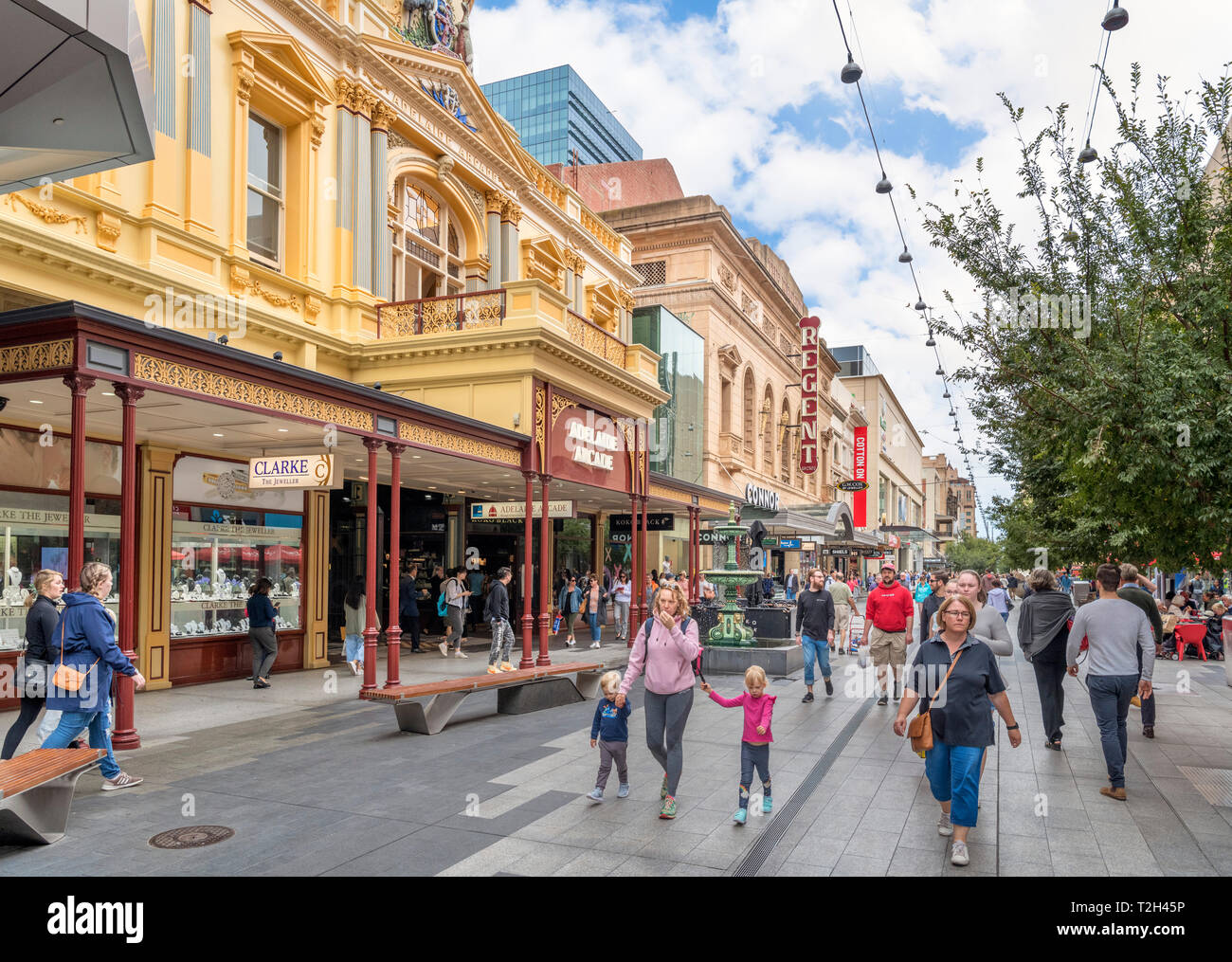 Adelaide, Australia. The Adelaide Arcade on Rundle Mall, Central Business District (CBD), Adelaide, South Australia, Australia - Stock Image
