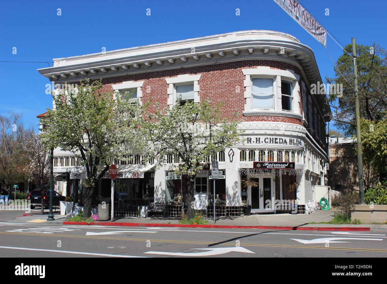 Cheda Building, San Anselmo, California - Stock Image