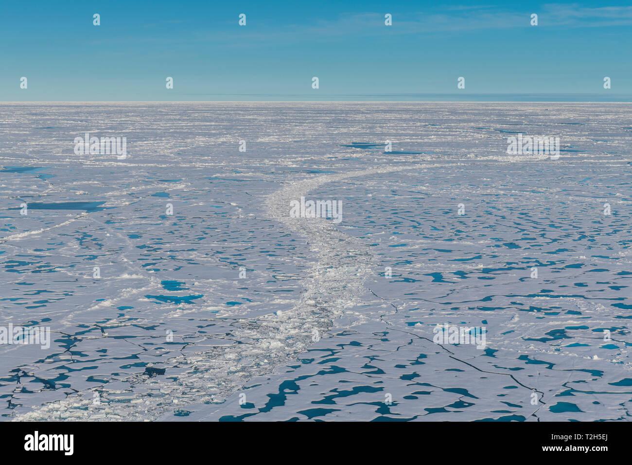 Melting ice at North Pole, Arctic - Stock Image