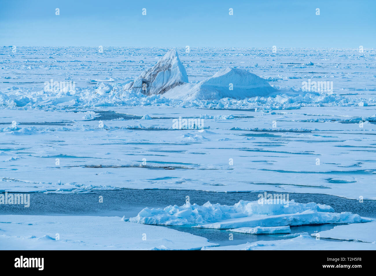Ice bergs at North Pole, Arctic - Stock Image