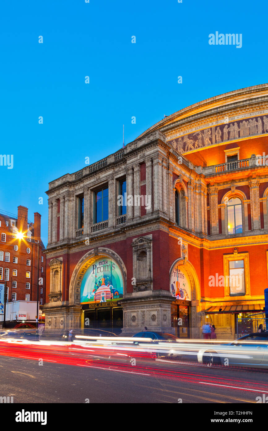 Royal Albert Hall at sunset in London, England, United Kingdom, Europe Stock Photo