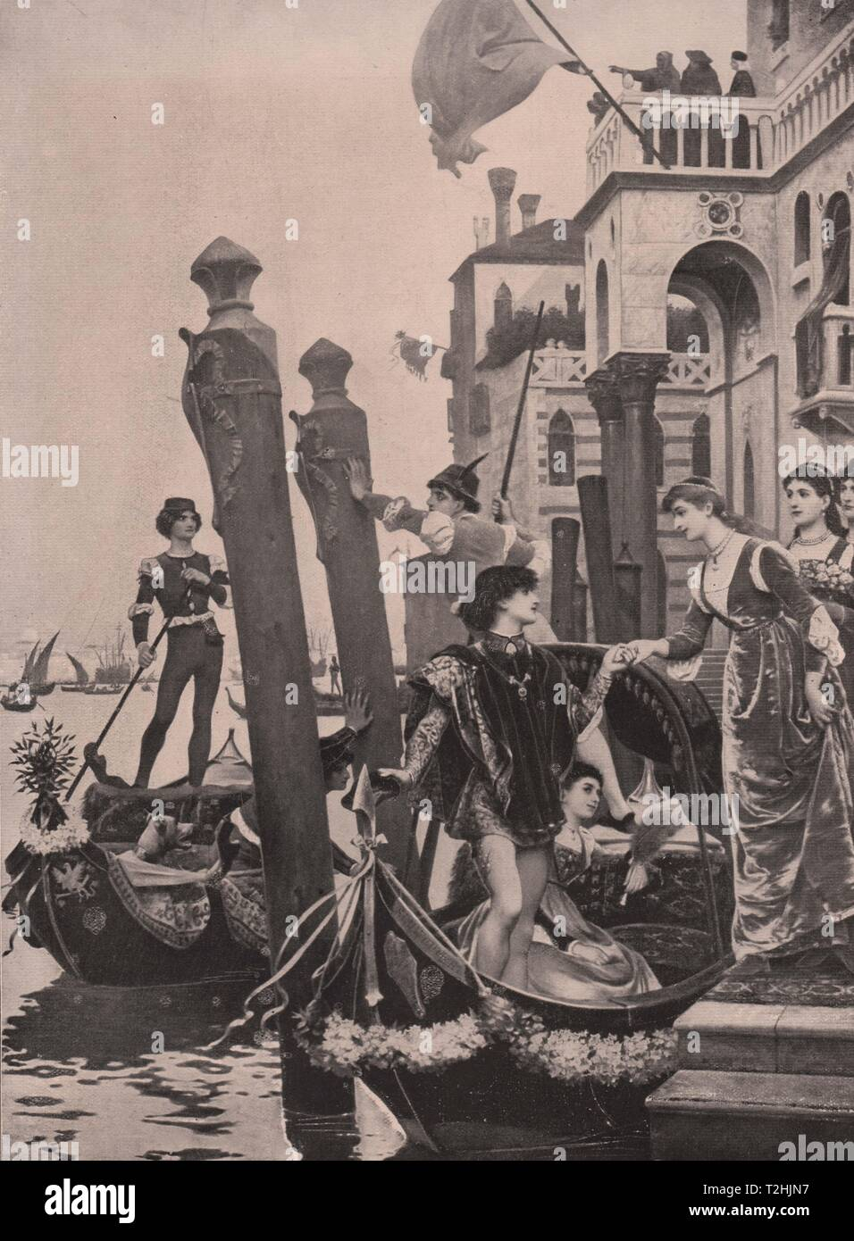 A Wedding in Venice in the Fifteenth Century - Stock Image