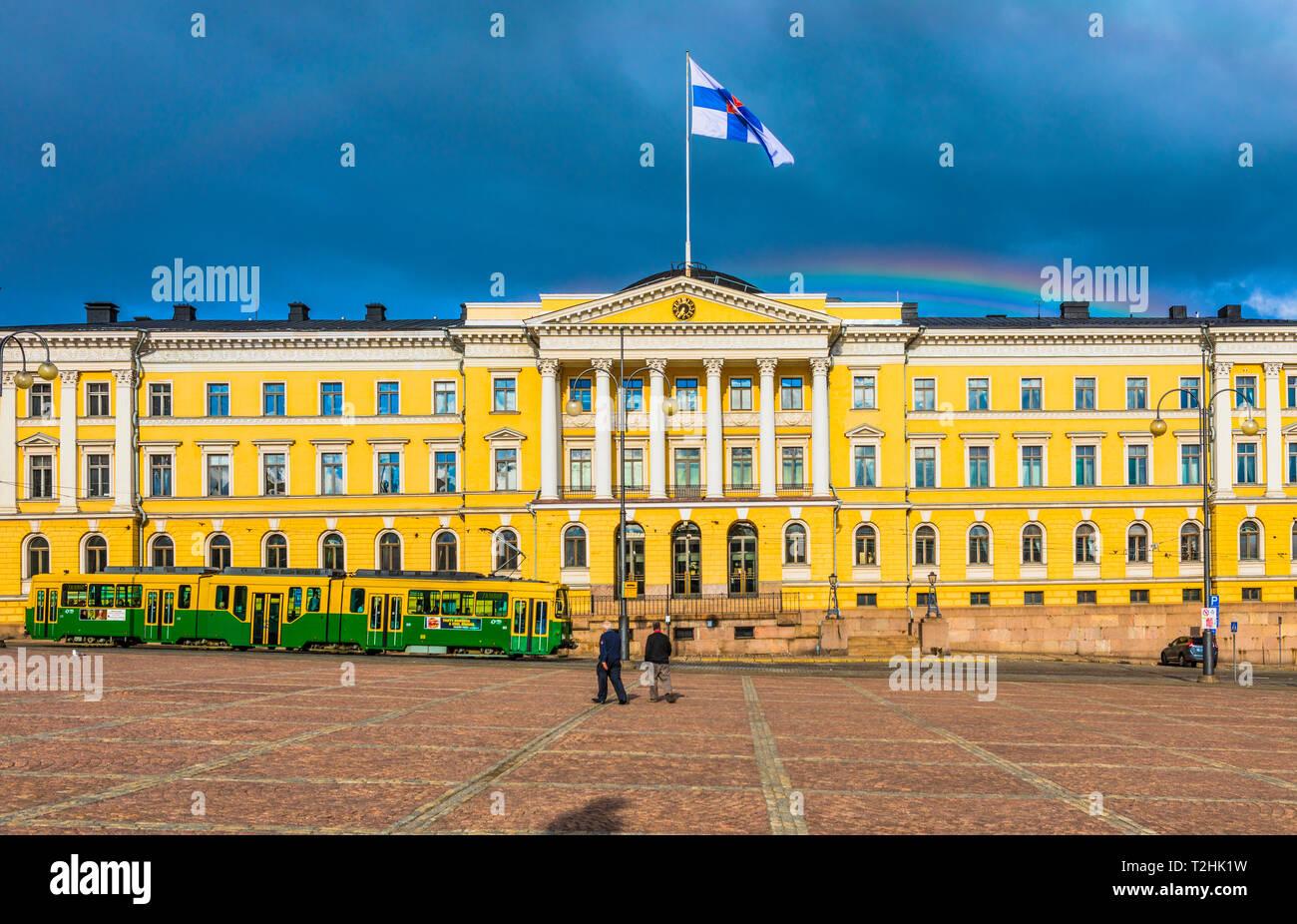 Senate Square, Helsinki, Uusimaa, Finland, Scandinavia, Europe - Stock Image