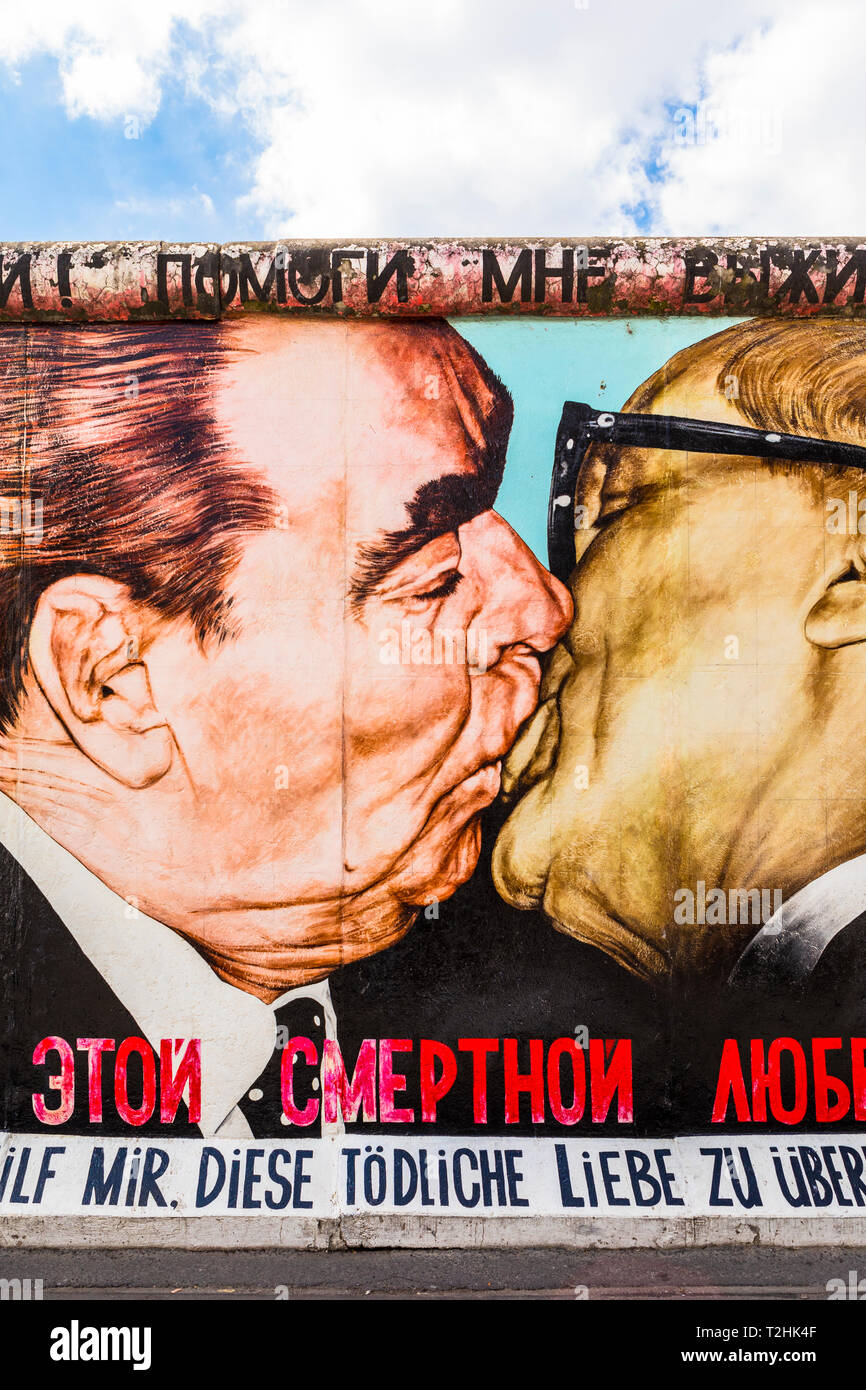 My God, Help Me to Survive This Deadly Love by Dmitri Vrubel on the Berlin Wall, Berlin, Germany, Europe Stock Photo
