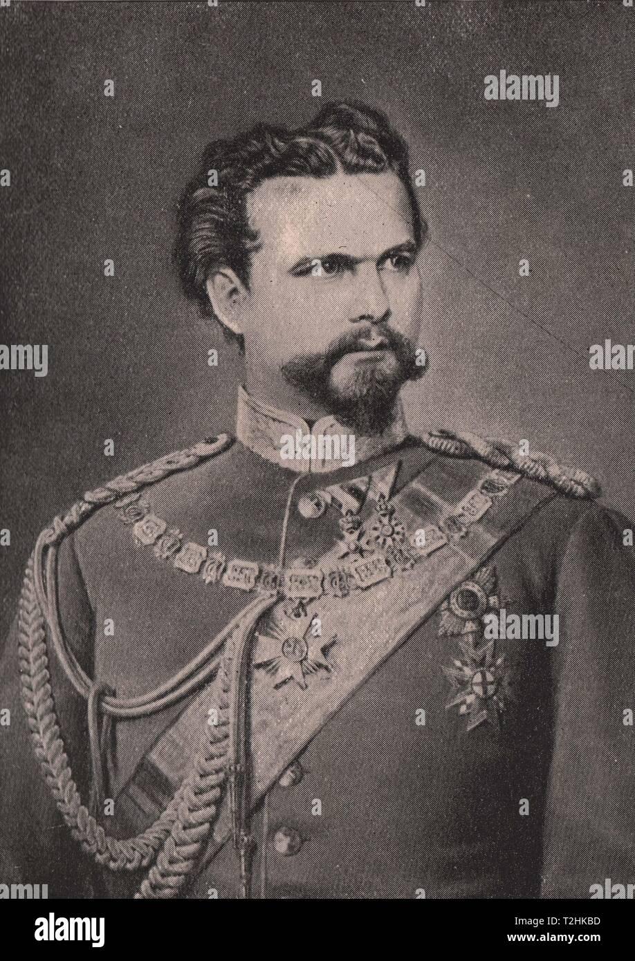 King Ludwig II., Bavaria - Stock Image
