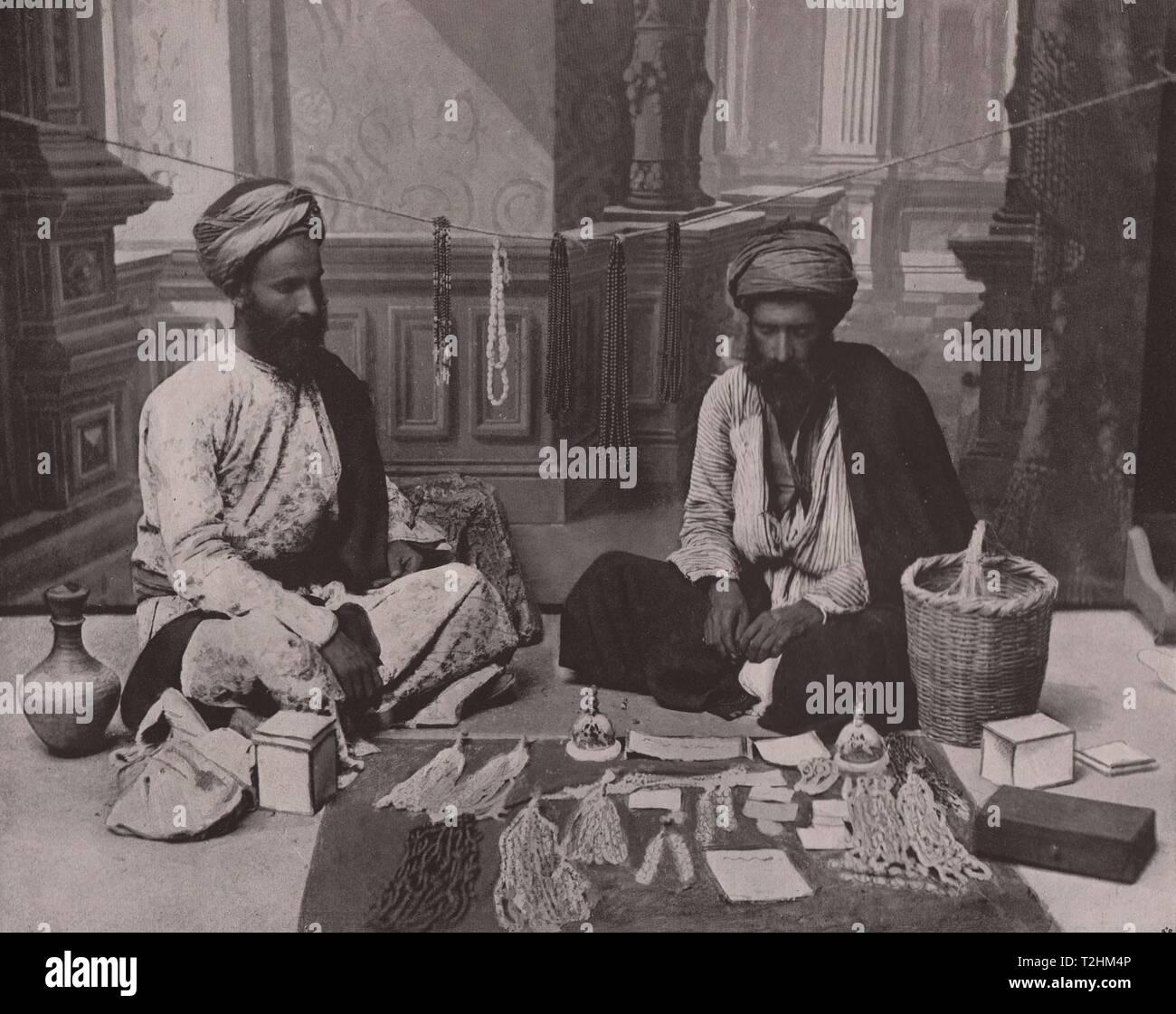 Bethlehem - Rosary merchants - Stock Image