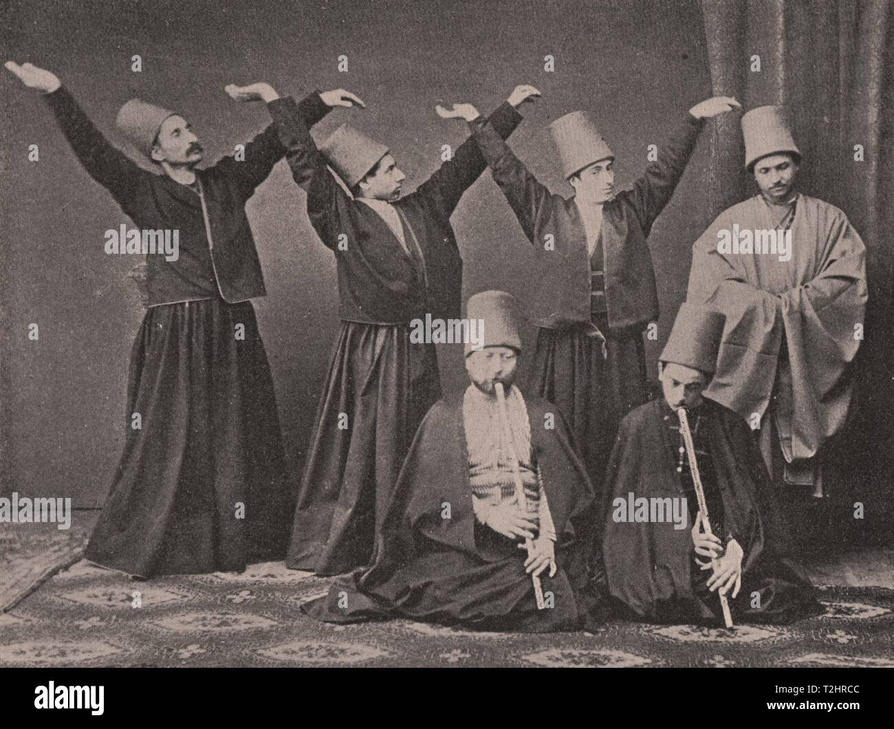 Whirling Dervishes of Constantinople - Stock Image