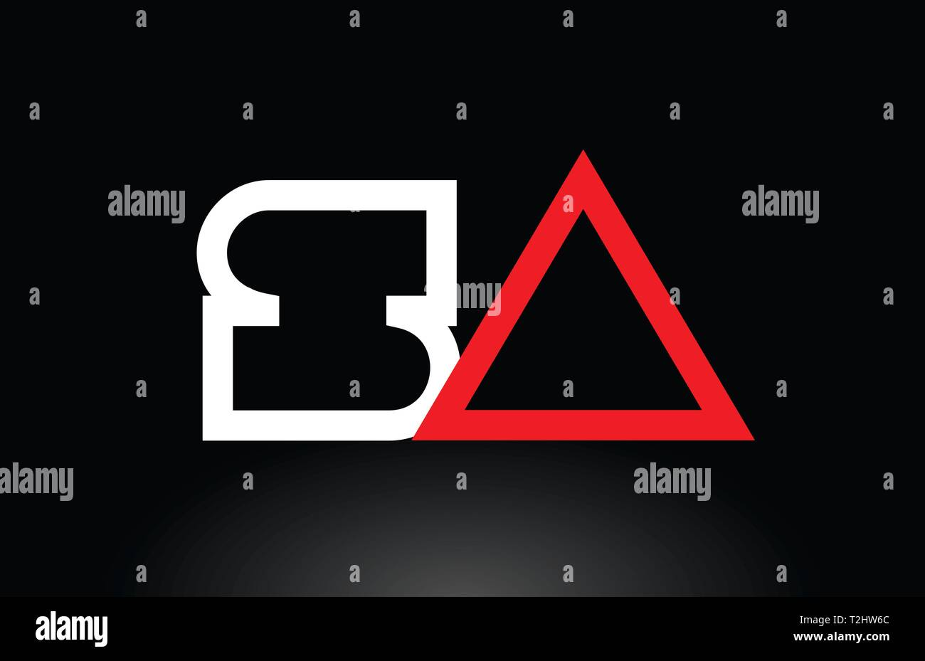 red white alphabet letter logo combination sa s a design suitable for a company or business Stock Vector