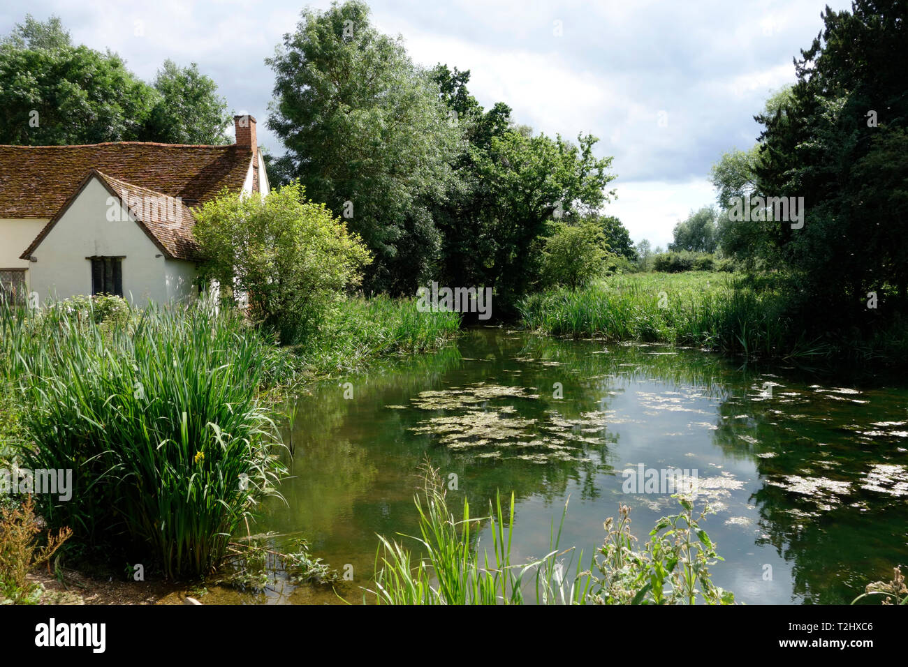 "Scene of the John Constable painting ""The Hay Wain"" Stock Photo"