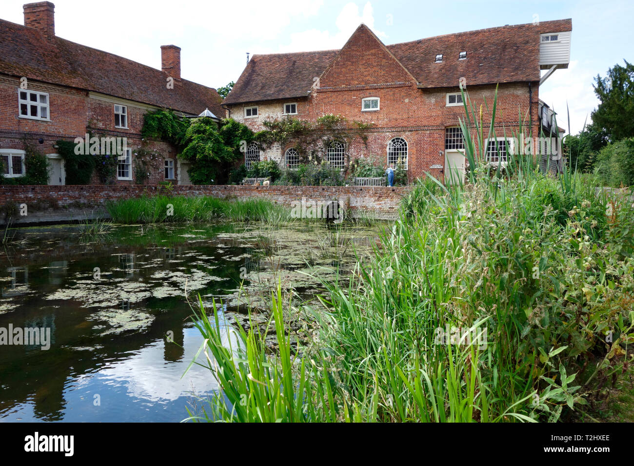Flatford Mill on the River Stour - Stock Image