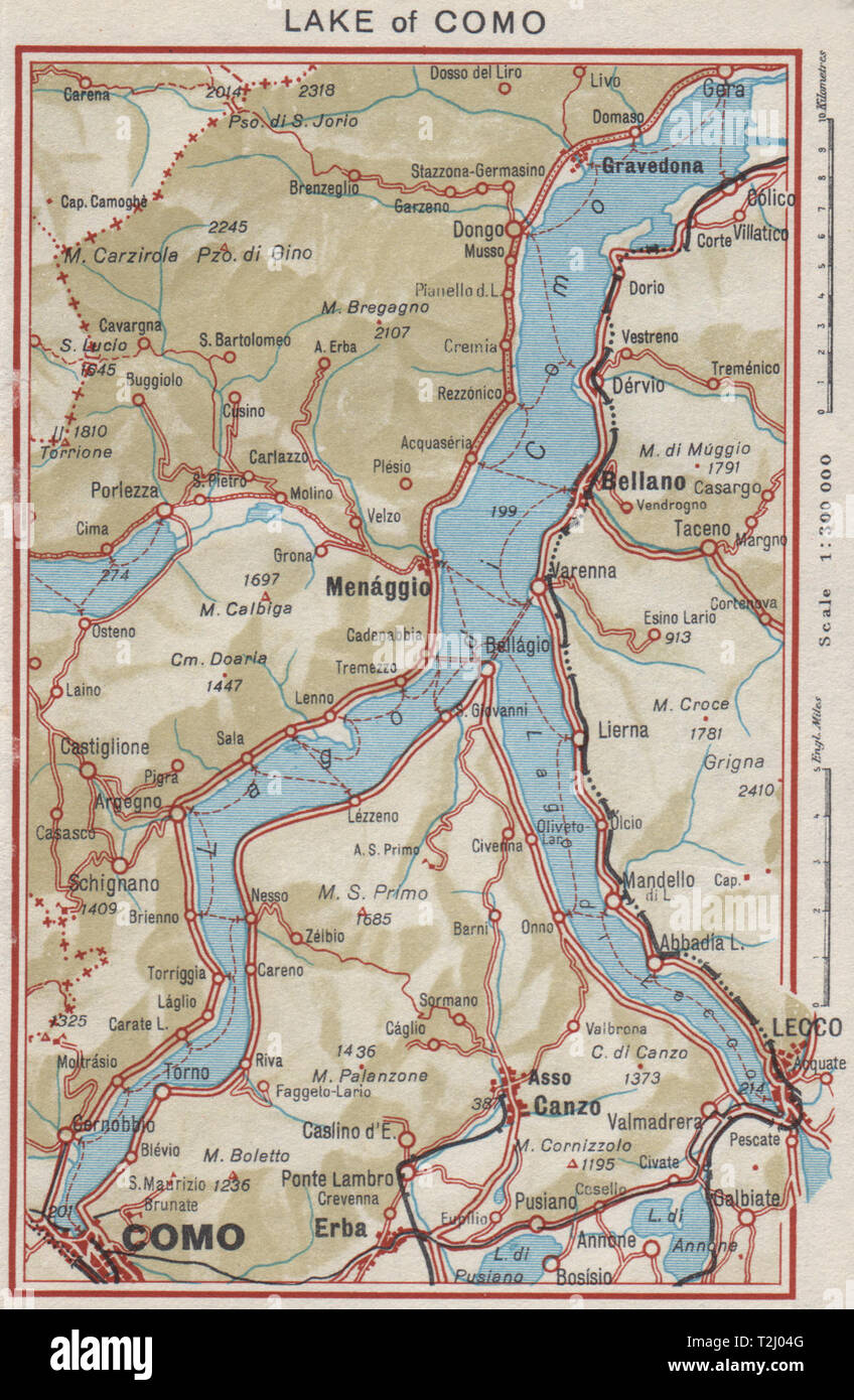 Cartina Italia 1810.Vintage Map Of Como Italy High Resolution Stock Photography And Images Alamy