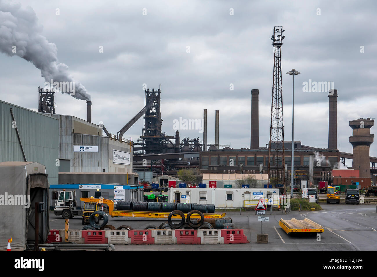 Steelworks,Scunthorpe,England (Taken from a public highway) Stock Photo