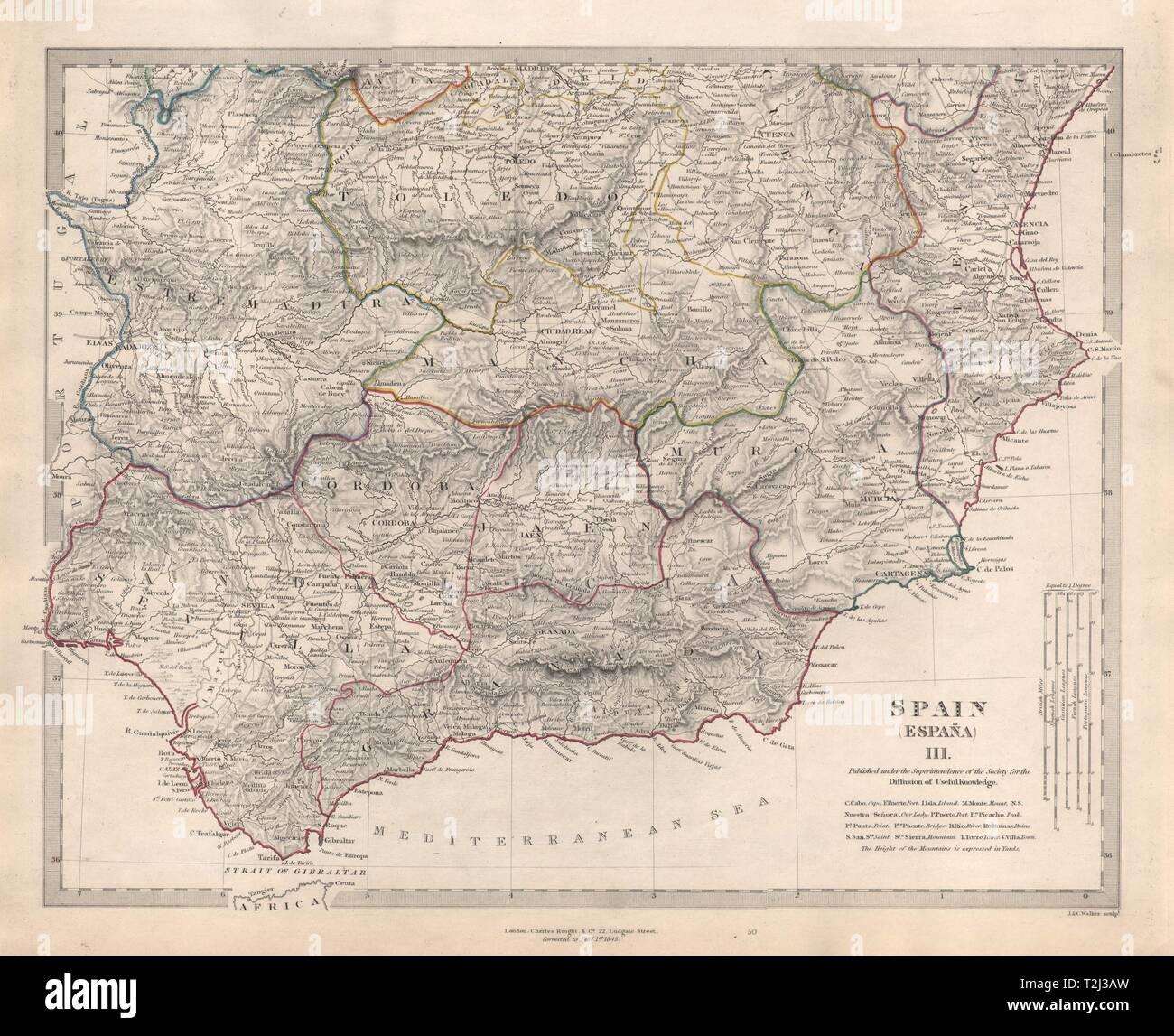 Map Of Spain Jaen.Spain South Sevilla Granada Cordoba Murcia Jaen Valencia Toledo