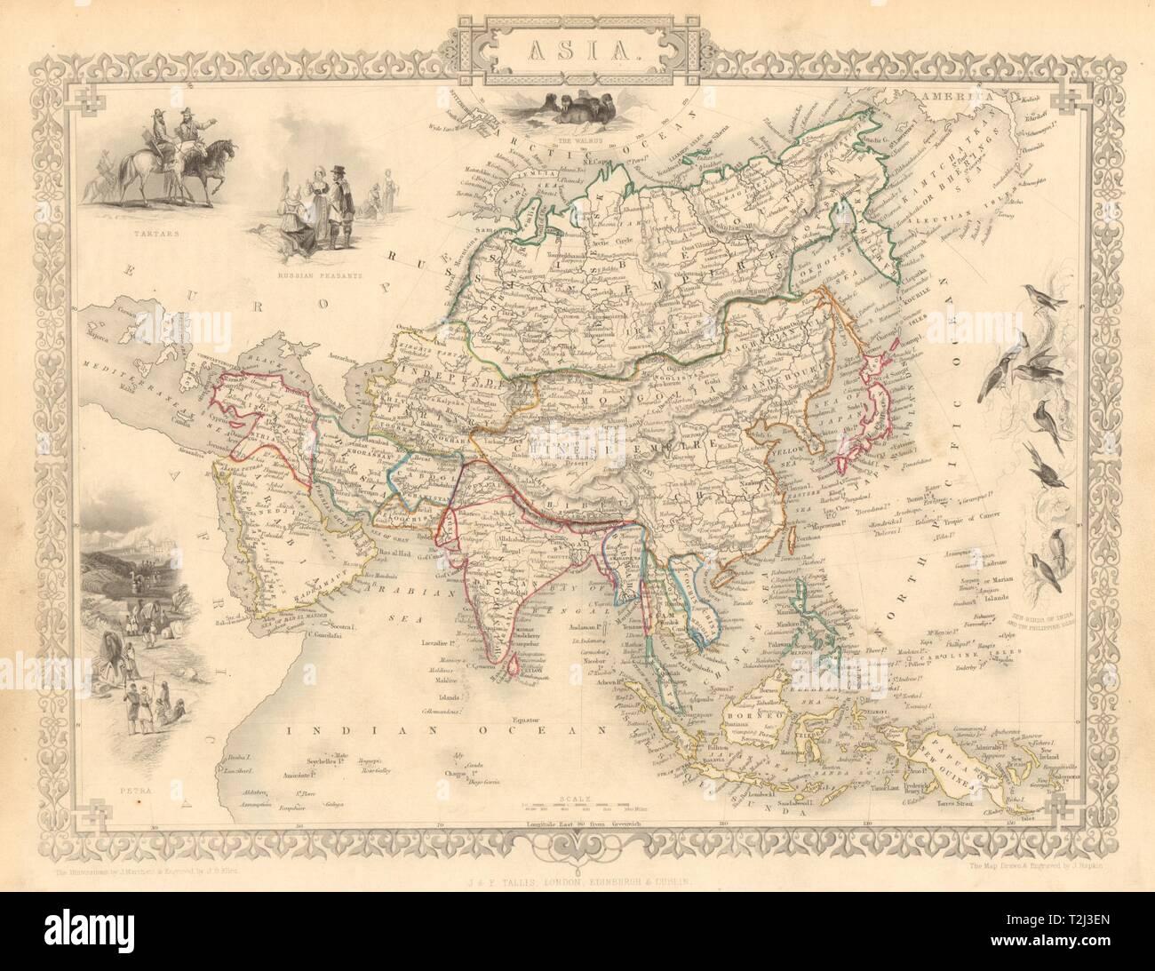 MAP OF YORK 1851 BY JOHN TALLIS