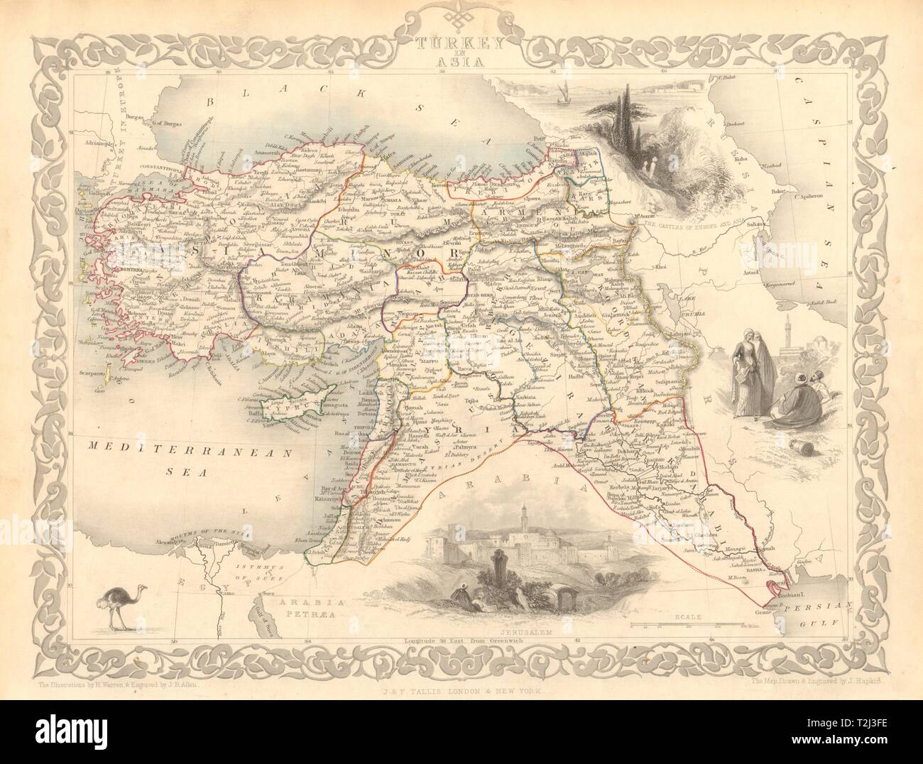 Maps, Atlases & Globes Weller 1862 Map Various Styles Turkey In Asia East Armenia Kurdistan Assyria Mesopotamia Iraq