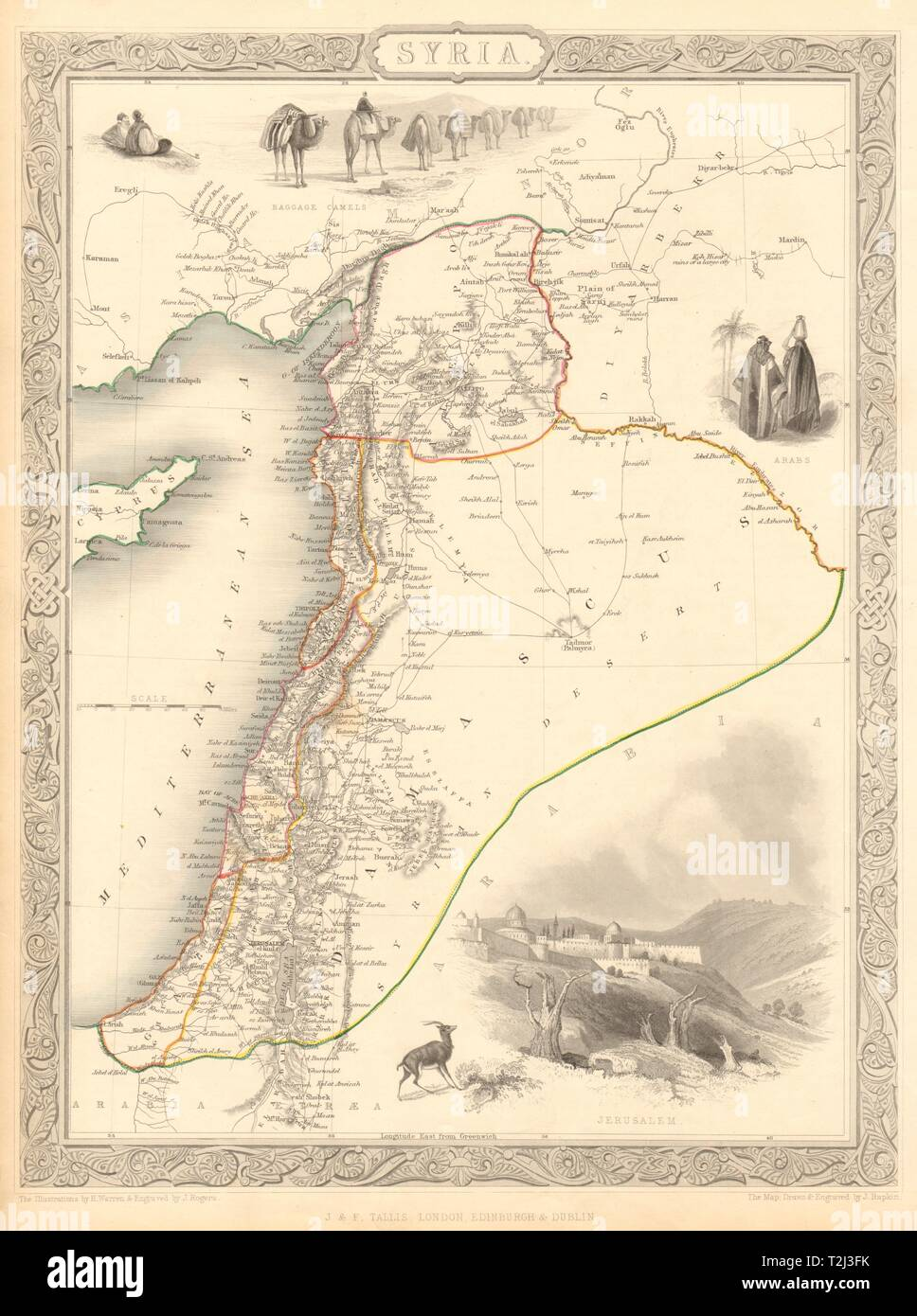 SYRIA. Levant Palestine Jordan Lebanon Israel Cyprus. TALLIS ... on mesopotamia map, israel map, syria map, mediterranean map, maghreb map, north africa map, iraq map, west bank map, ancient near east map, dead sea map, sinai peninsula map, egypt map, east asia map, ottoman empire map, palestine map, cyprus map, jordan map, fertile crescent map, canaan map, anatolia map,