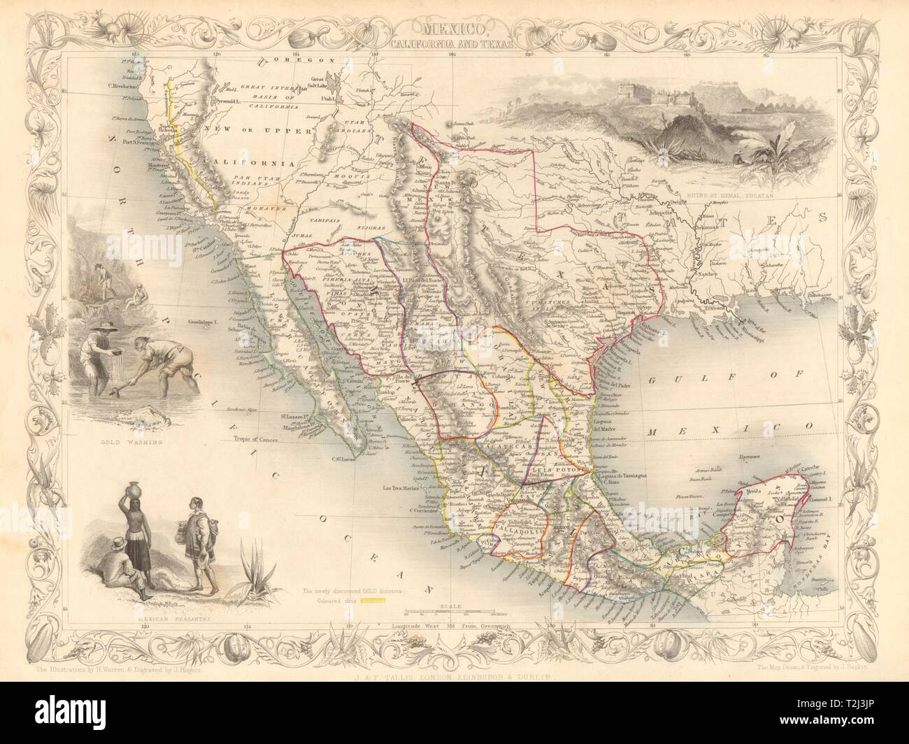 MEXICO CALIFORNIA TEXAS. Gold rush district. TX Republic ... on map of livermore california, map of buffalo california, map of central california, map of salinas california, map of lomita california, map of bakersfield california, map of pomona california, map of san juan bautista california, map of mountain house california, map of mt. view california, map of ventura california, map of white mountains california, map of isleton california, map of colfax california, map of wilton california, map of victorville california, map of pollock pines california, map of china lake california, map of san mateo california, map of oakland california,