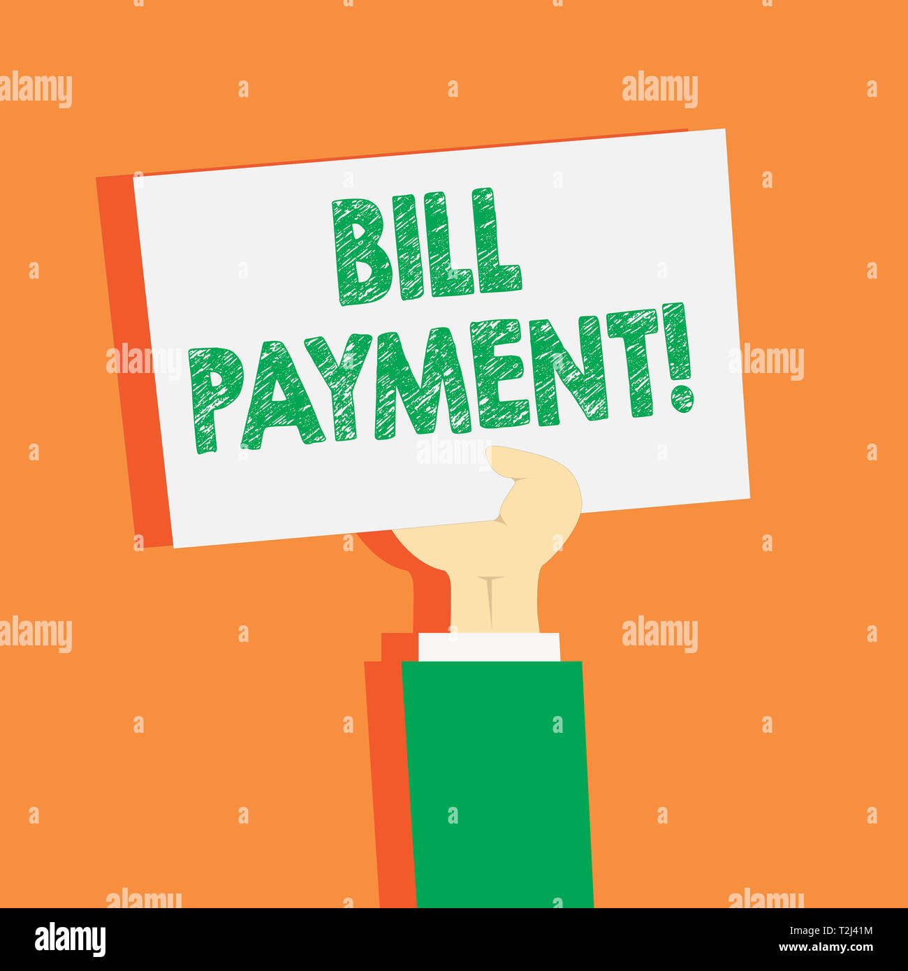 Handwriting text writing Bill Payment  Conceptual photo