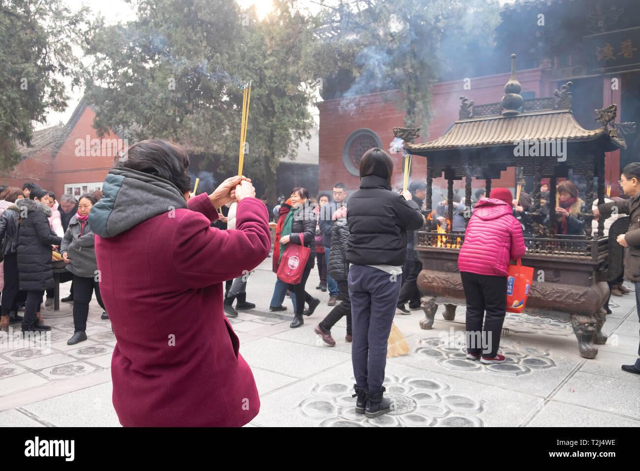Incense Praying Pot Chinese Stock Photos & Incense Praying