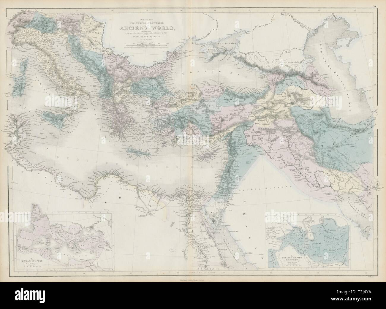 Map The Ancient Persian Empire High Resolution Stock Photography And Images Alamy