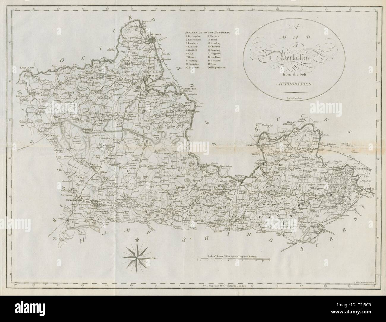 A map of Berkshire from the best authorities