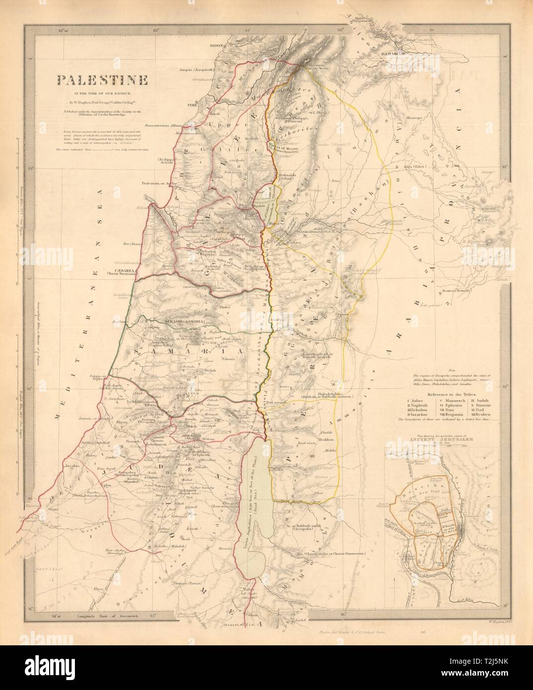 PALESTINE in the time of Our Saviour. Ancient Jerusalem. Israel ...