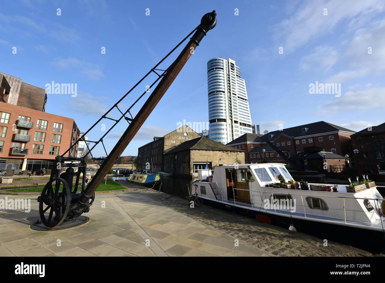 Leeds, Yorkshire, UK, showing Bridgewater Place. - Stock Image