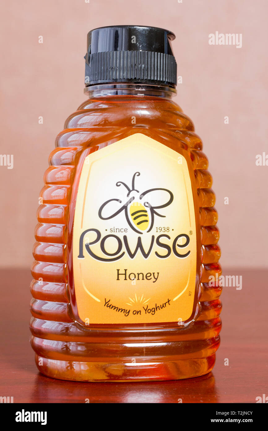 Rowse runny honey in a squeezy bottle - Stock Image