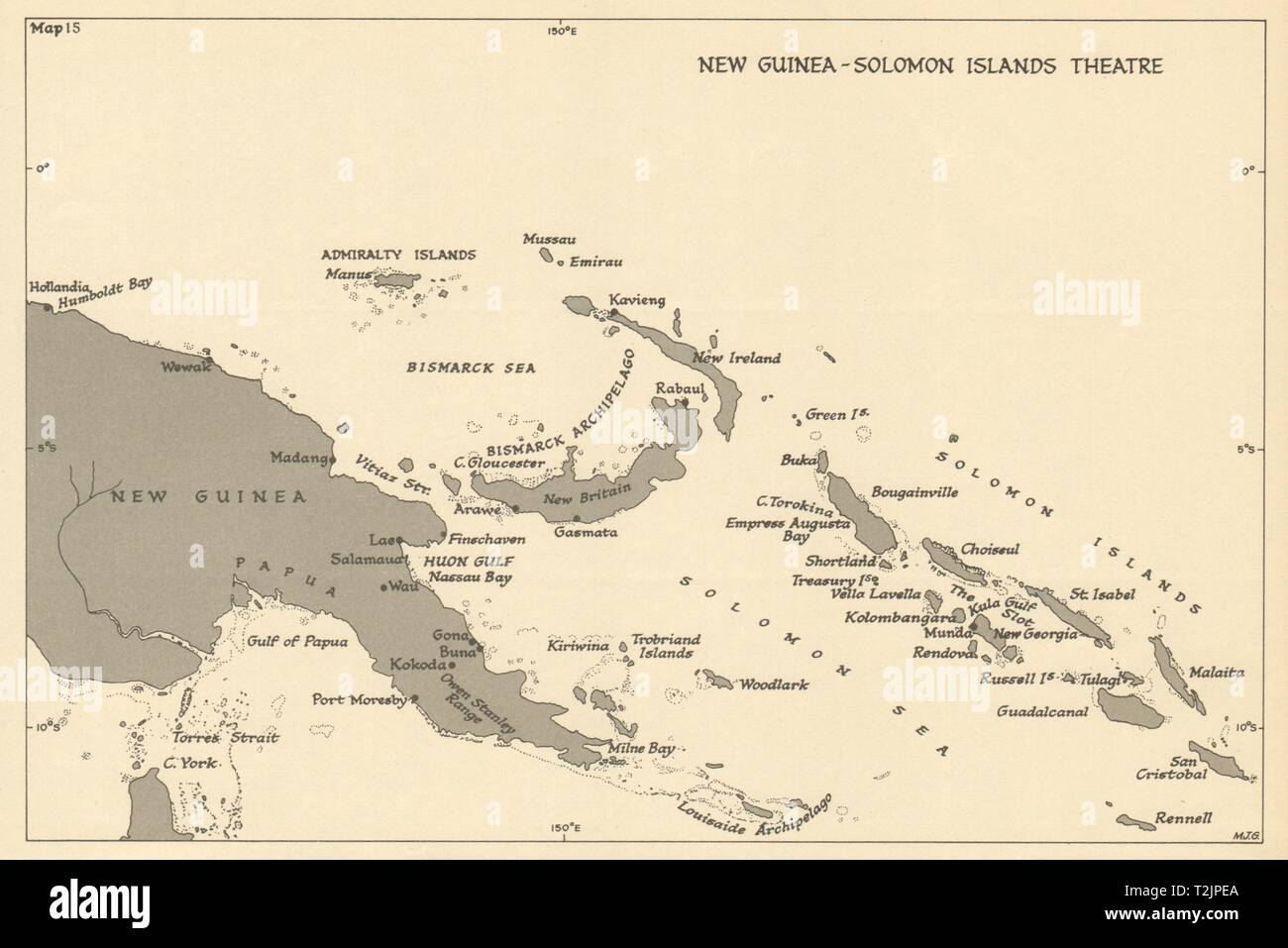 New Guinea & Solomon Islands Theatre  World War 2  Pacific