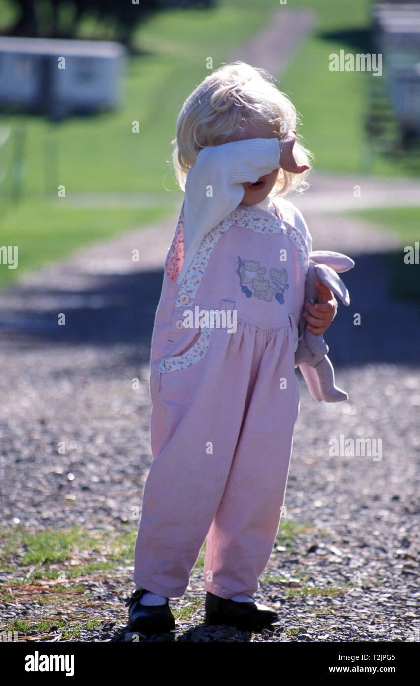 little girl having a tantrum - Stock Image