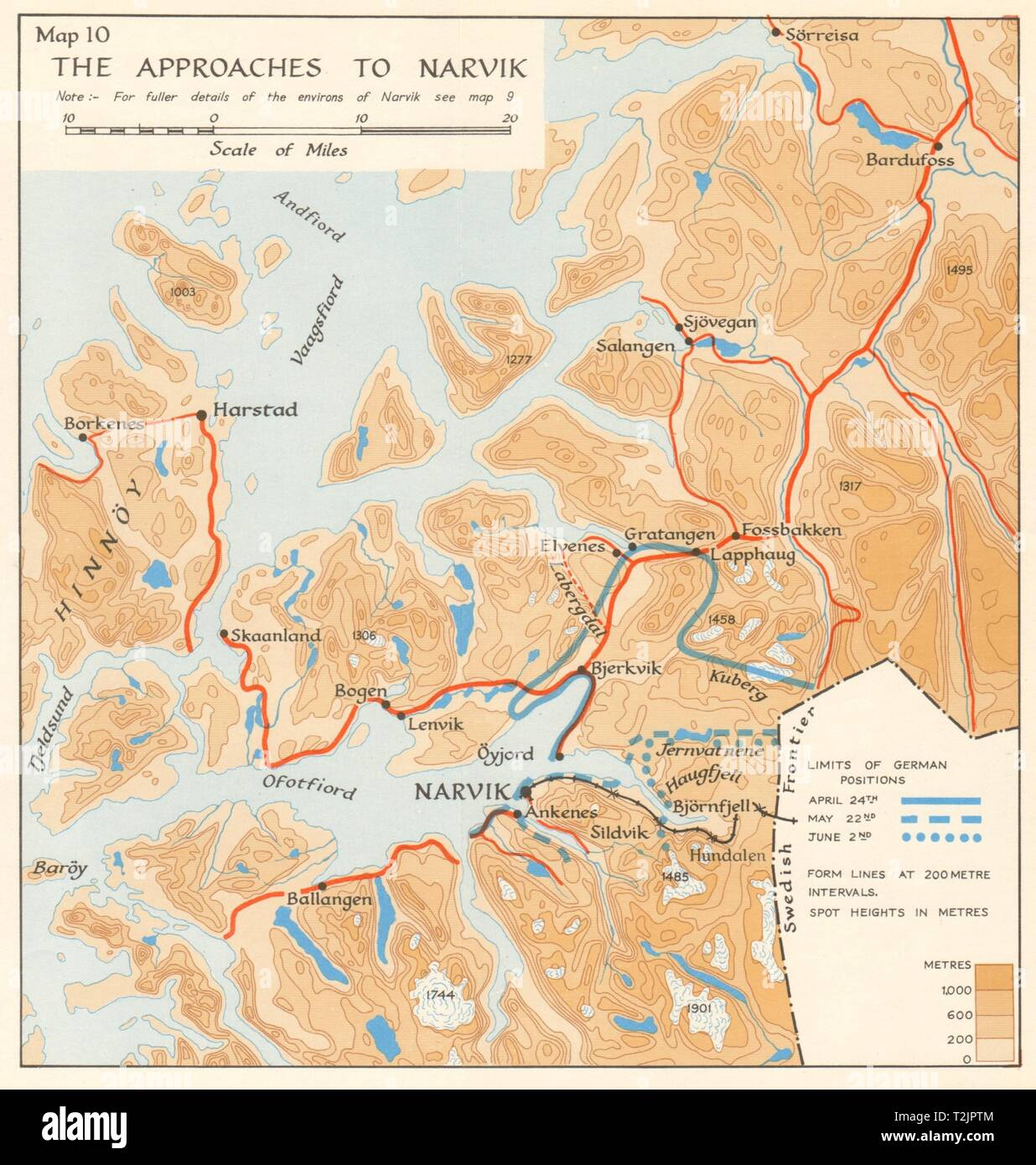 World War 2 Norway Campaign. Narvik approaches 1940. German ...