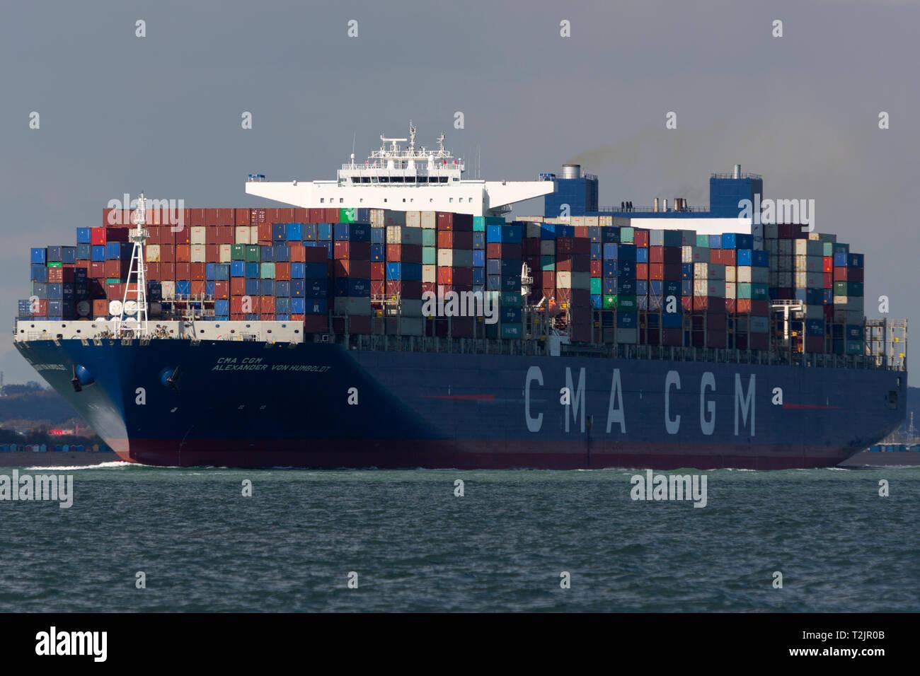 Brexit  Container, ship, CMA CGM, Alexander Von,Humboldt