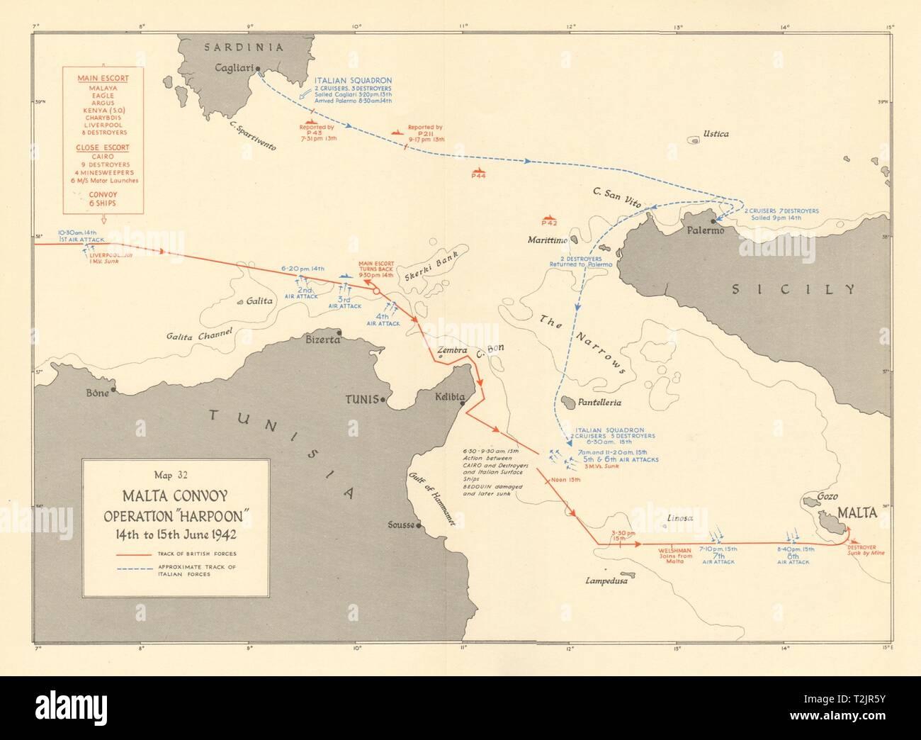 Malta Convoy. Operation Harpoon 14th-15th June 1942. World ...