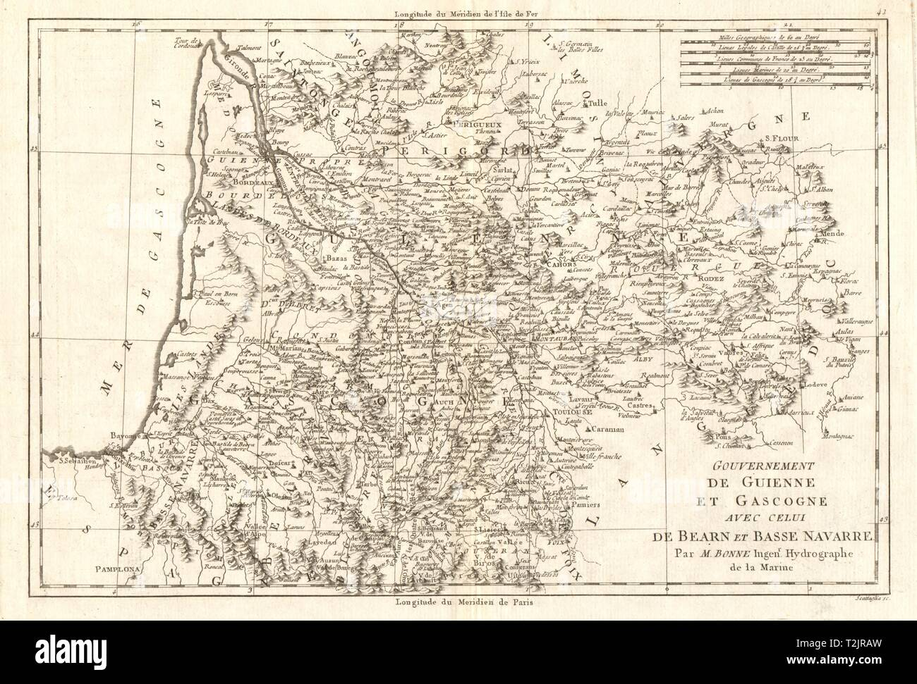 Map Of France Gascony.Guyenne And Gascony Stock Photos Guyenne And Gascony Stock Images