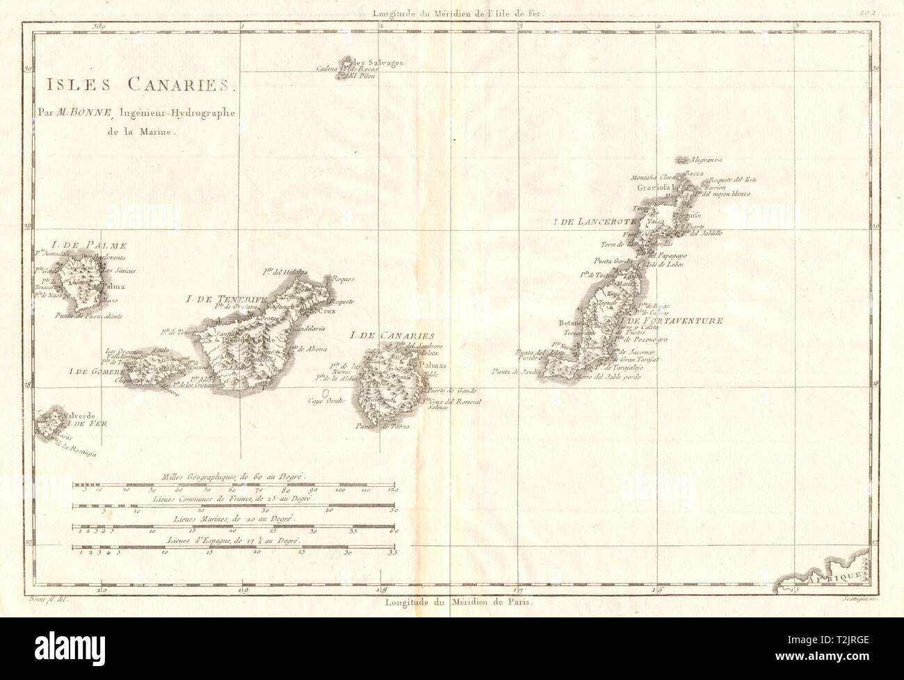 Map Of Spain Tenerife.Canary Islands 18th Century Map Stock Photos Canary Islands 18th
