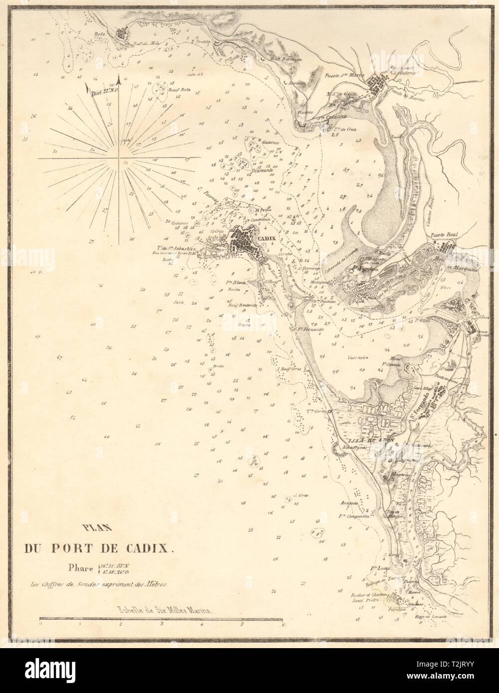 Map Of Spain Cadiz.Old Map Of Cadiz Stock Photos Old Map Of Cadiz Stock Images Alamy