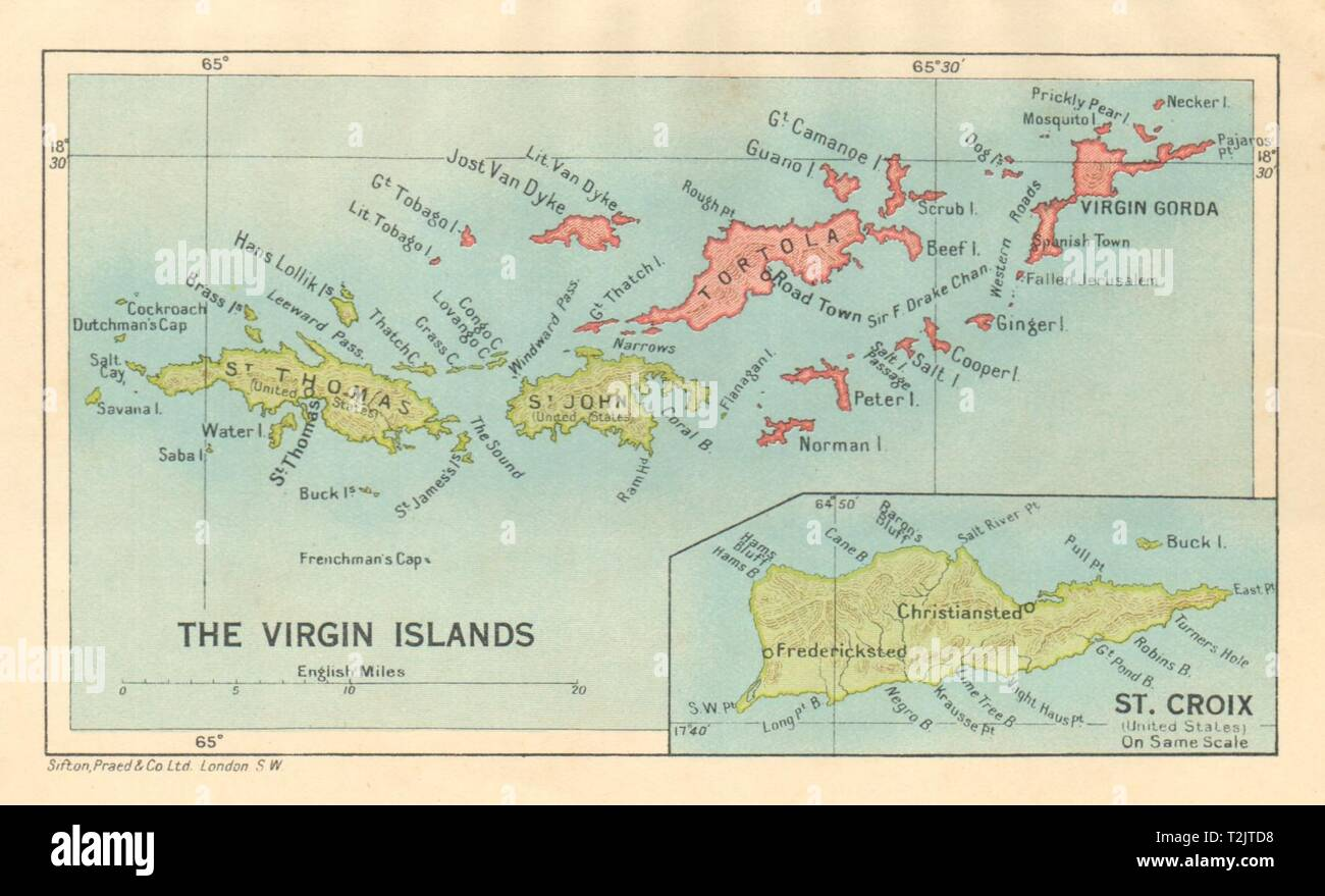 BRITISH/US VIRGIN ISLANDS Tortola Virgin Gorda St Croix St ...