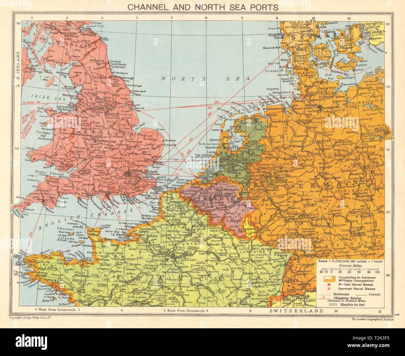 Picture of: World War 2 English Channel North Sea Ports German Occupied Europe 1942 Map Stock Photo Alamy