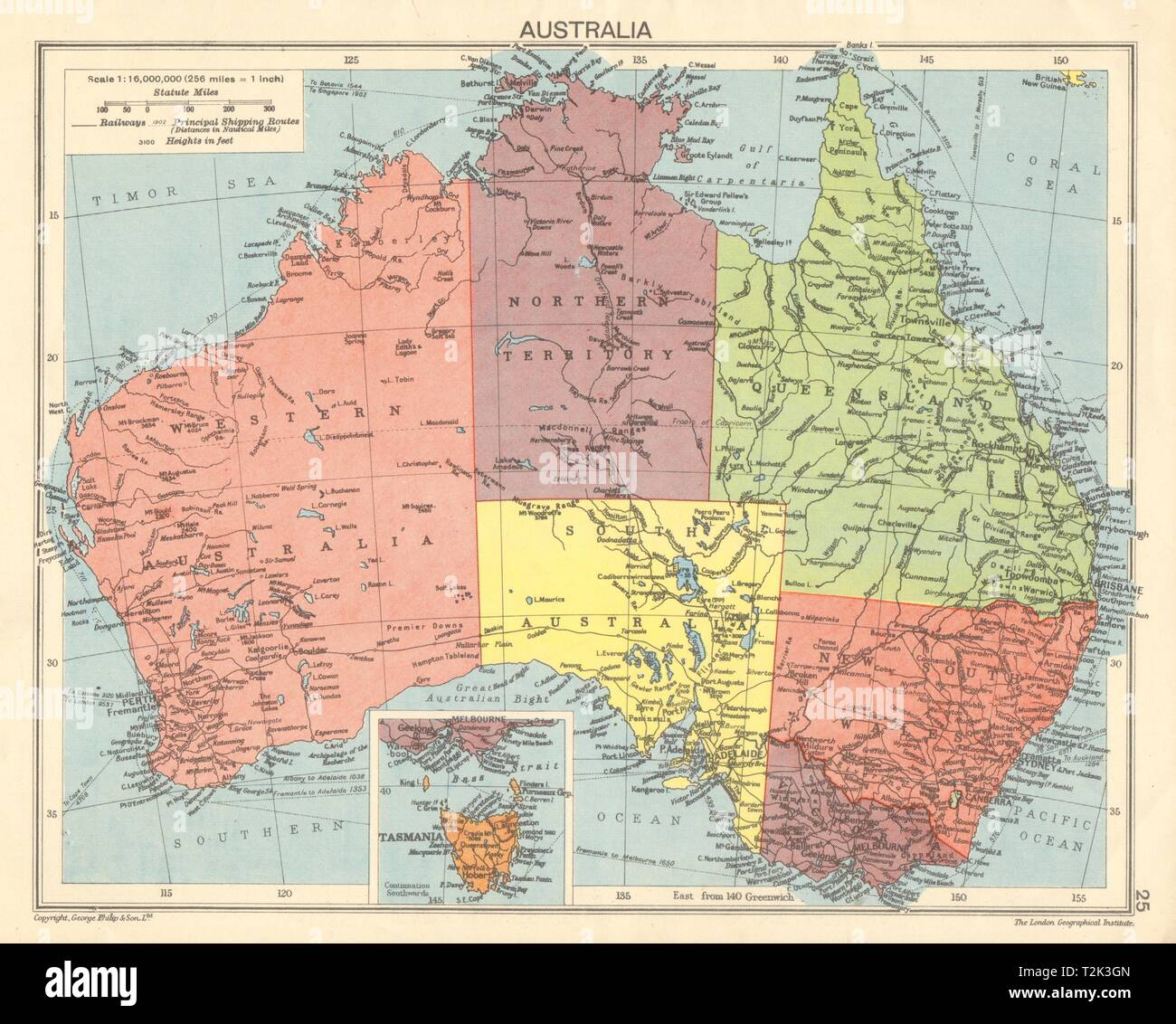 Map Of Australia States And Territories.Second World War Australia States Territories 1942 Old Vintage Map