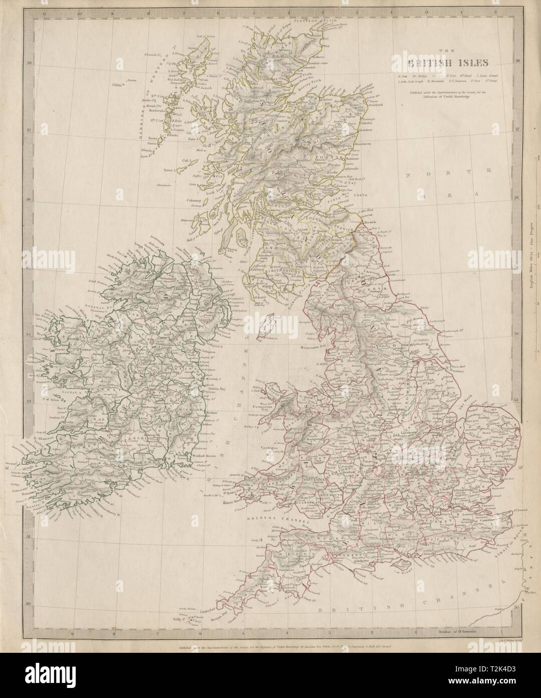 Map Of England Counties And Towns.British Isles Great Britain Ireland Uk Counties Towns Rivers