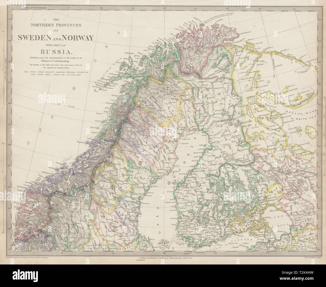 Scandinavia Map And Cartography Stock Photos & Scandinavia Map And on