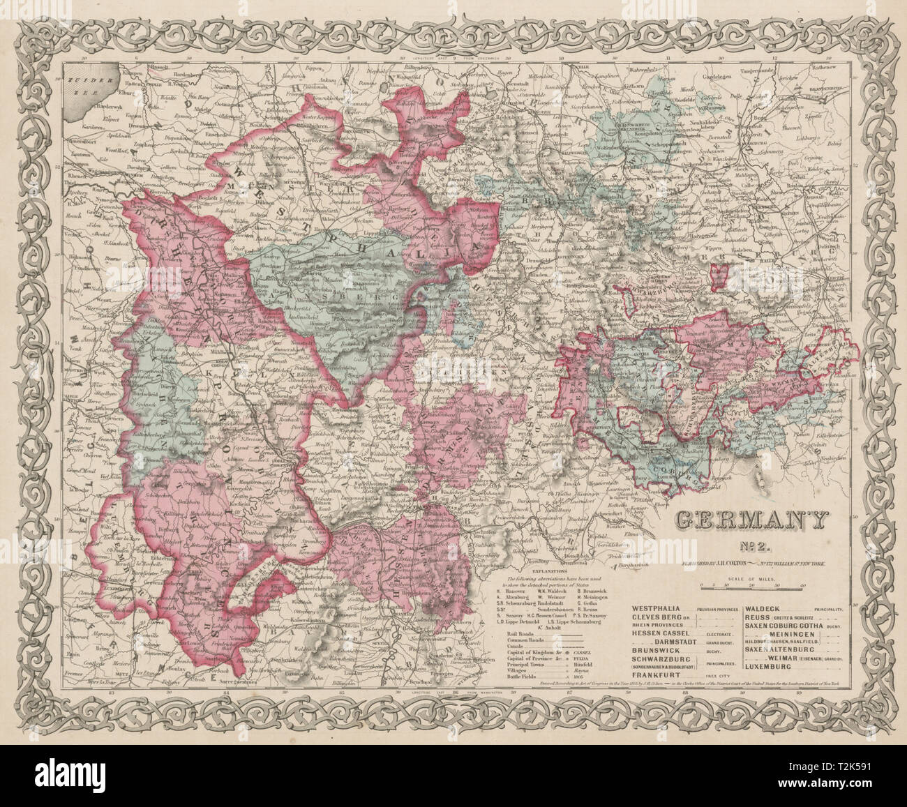 Map Of Central Germany.Central Germany 2 Nordrhein Westfalen Rheinland Pfalz Thuringen