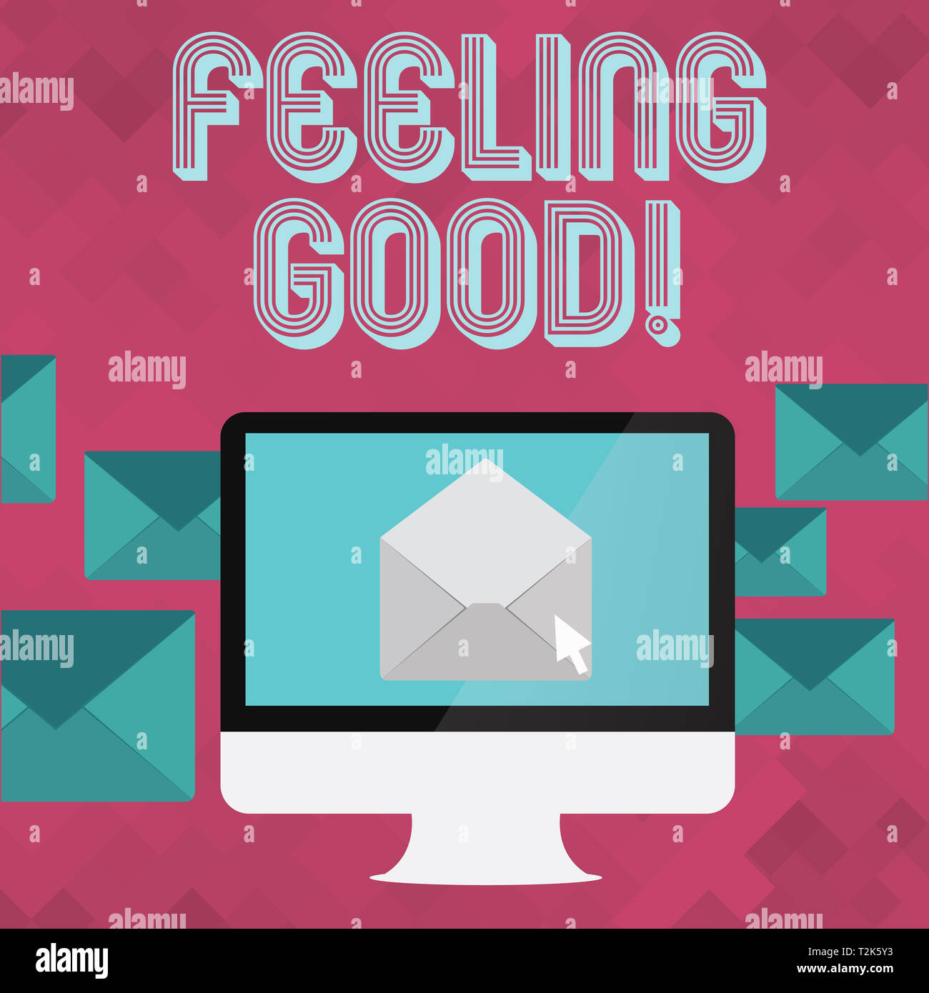 Writing note showing Feeling Good  Business concept for